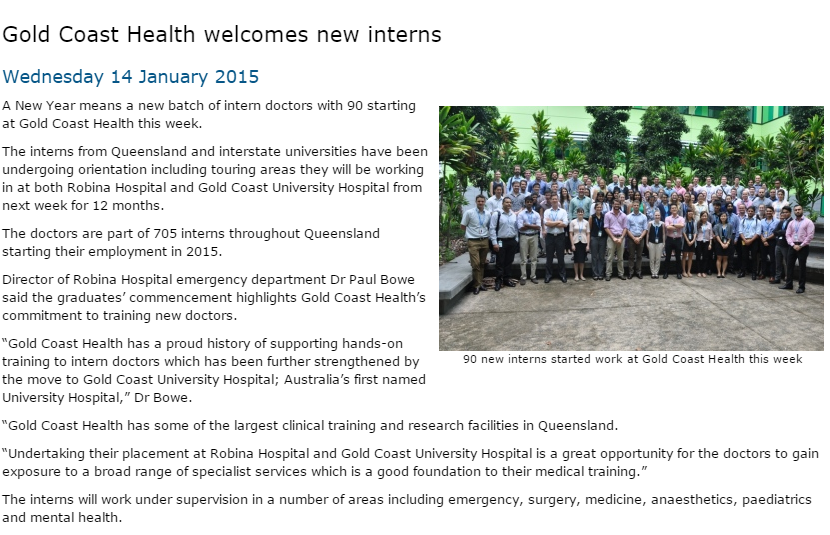 gold-coast-health-new-interns