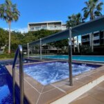 New Pool deck spa
